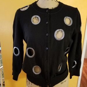 Marc Jacobs cardigan with lame trim